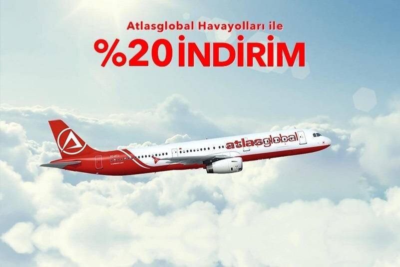 Atlasglobal konforu ile tüm iç hat uçuşlar %20 indirimli