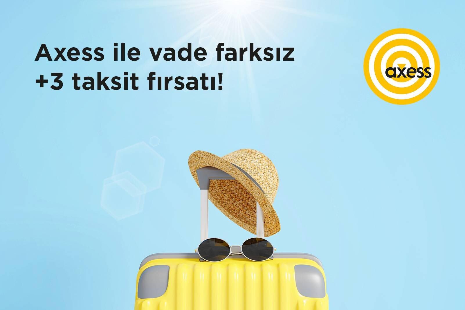 Axess ile Tursab'da vade farksız +3 taksit fırsatı!