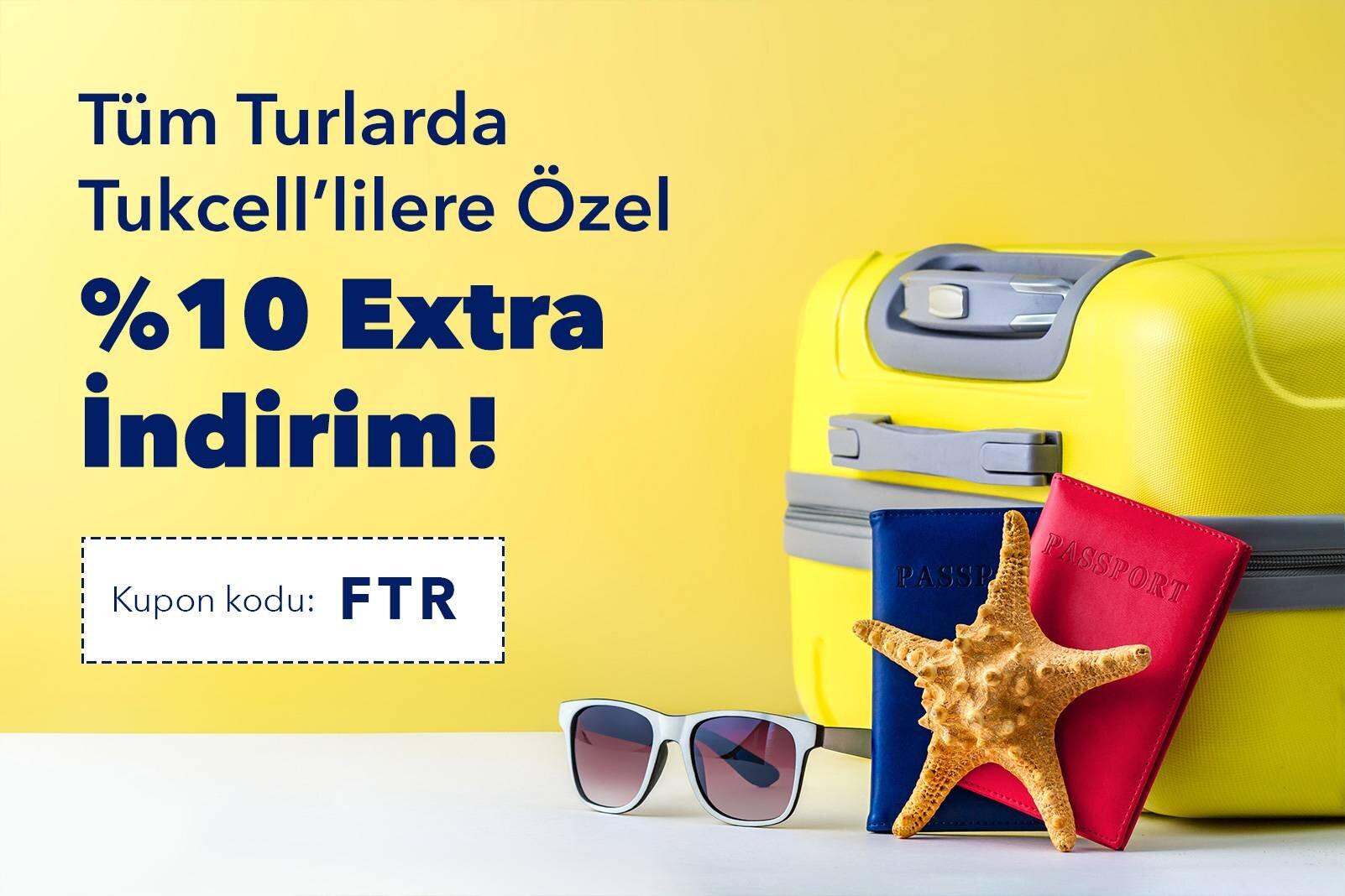 Turkcell'lilere Özel Tüm Turlarda Ekstra İndirim