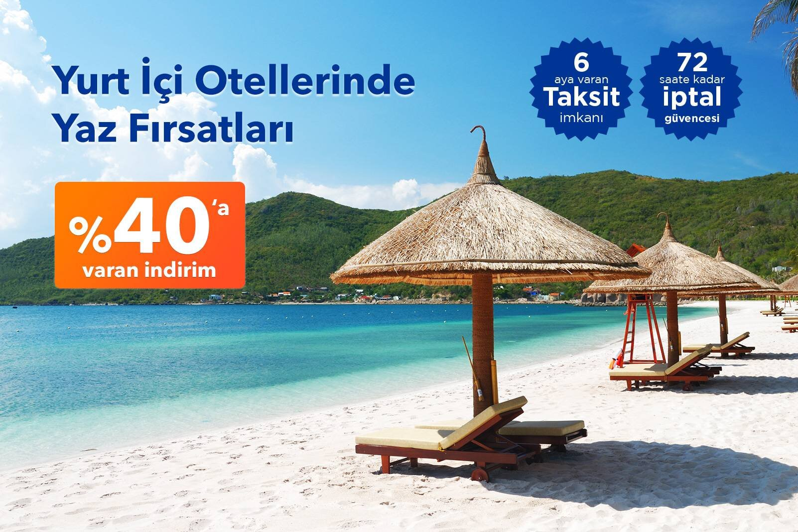Yaz Fırsatları Otellerinde %40'a Varan İndirim