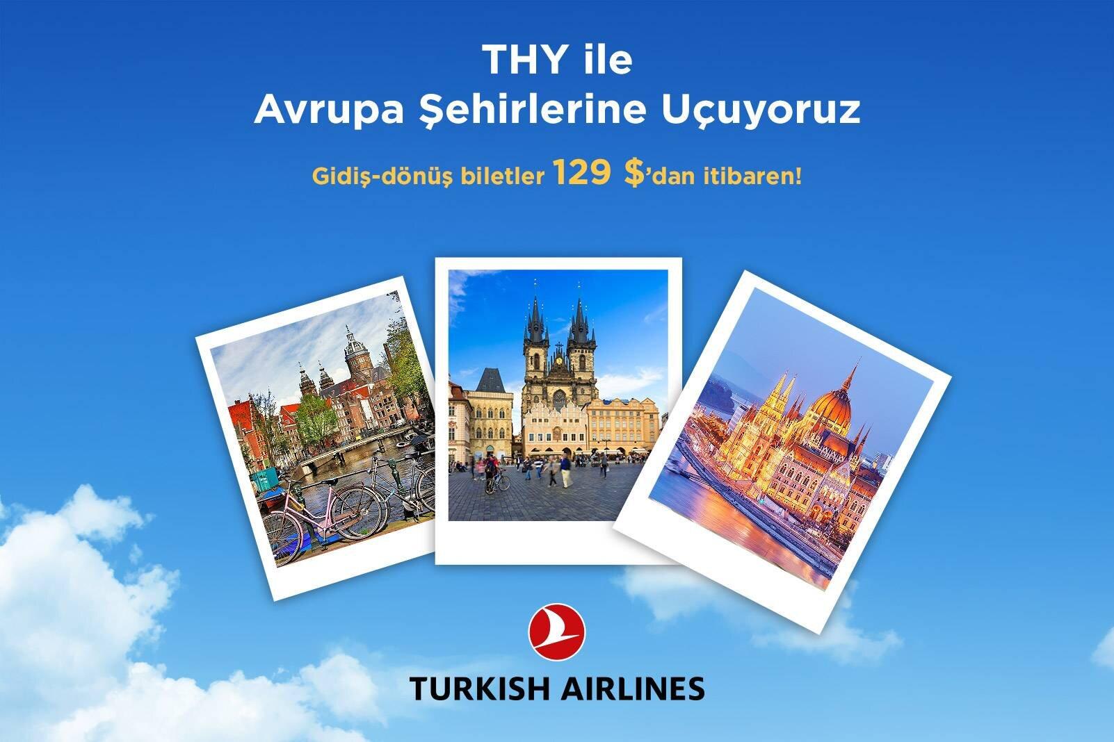 THY ile Orta Avrupa'ya Avantajlı Fiyatlarla Uçun!